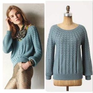Anthropologie Guinevere Purl-wise sweater pullover